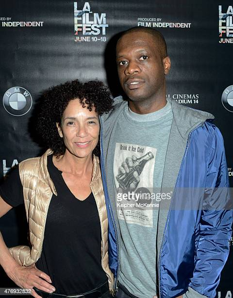 Film Festival Director Stephanie Allain and rapper Pras Michel attend Music in Film: Pras and Friends during the 2015 Los Angeles Film Festival at...