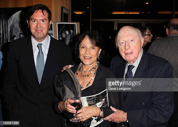 Film historian Jeffrey Vance and actors Claire Bloom and Norman Lloyd attend the Academy of Motion Picture Arts and Sciences presentation of the 60th...