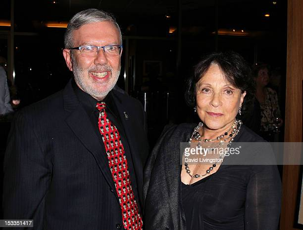 Film historian Leonard Maltin and actress Claire Bloom attend the Academy of Motion Picture Arts and Sciences presentation of the 60th anniversary of...