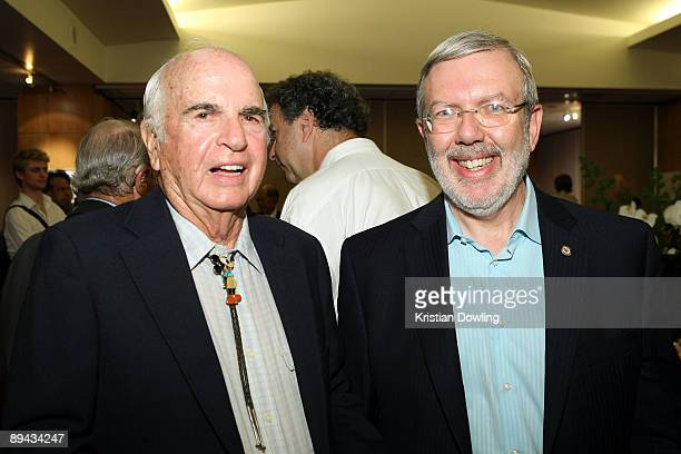 Film historian Leonard Maltin and director Joe Hale attend AMPAS' 14th Annual Marc Davis Celebration of Animation at the AMPAS Samuel Goldwyn Theater...