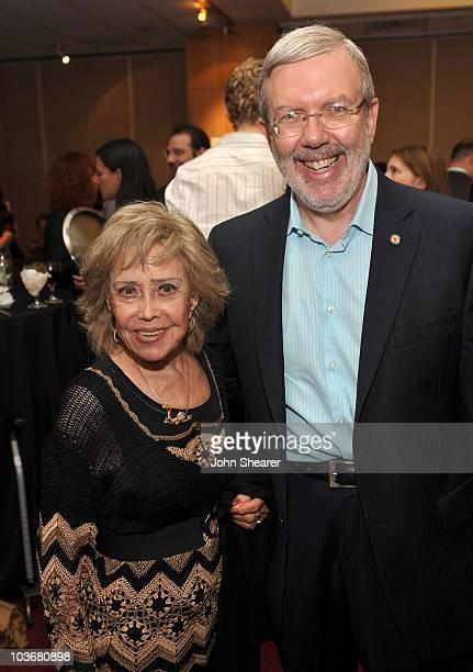 Film historian Leonard Maltin and voice actor June Foray attend AMPAS' 14th Annual Marc Davis Celebration of Animation at the AMPAS Samuel Goldwyn...