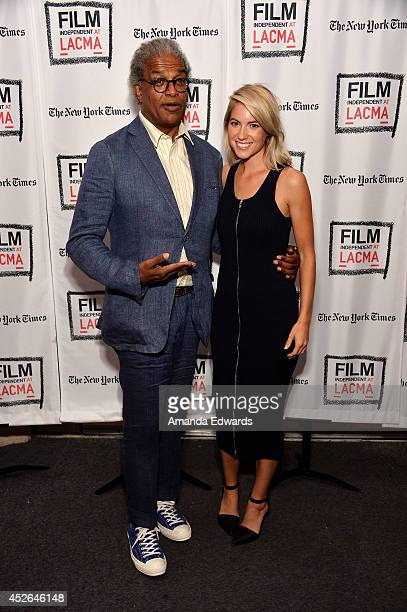 Film Independent at LACMA Film Curator Elvis Mitchell and actress Laura Ramsey attend the Film Independent Screening and QA of Are You Here at the...