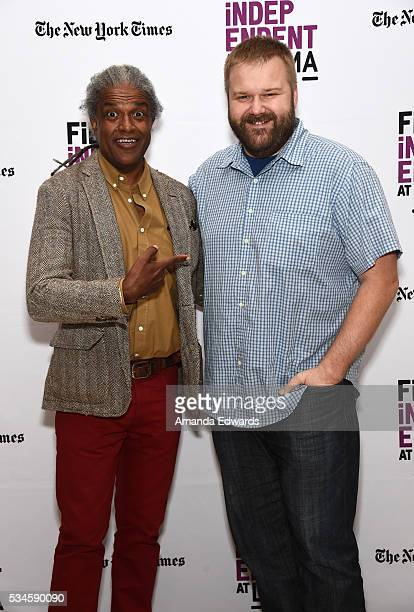 Film Independent at LACMA film curator Elvis Mitchell and comic book writer Robert Kirkman attend the Film Independent at LACMA presentation of An...