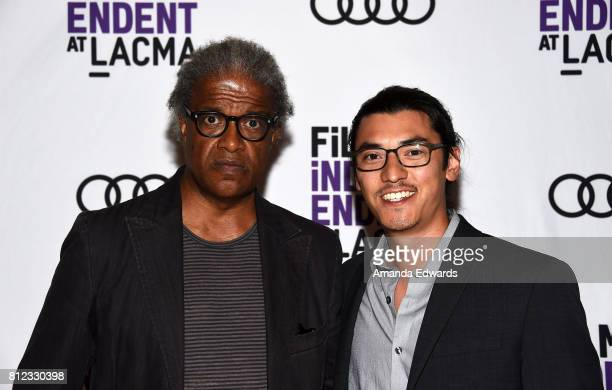 Film Independent at LACMA film curator Elvis Mitchell and filmmaker Jeff Orlowski attend the Film Independent at LACMA Special Screening and QA of...