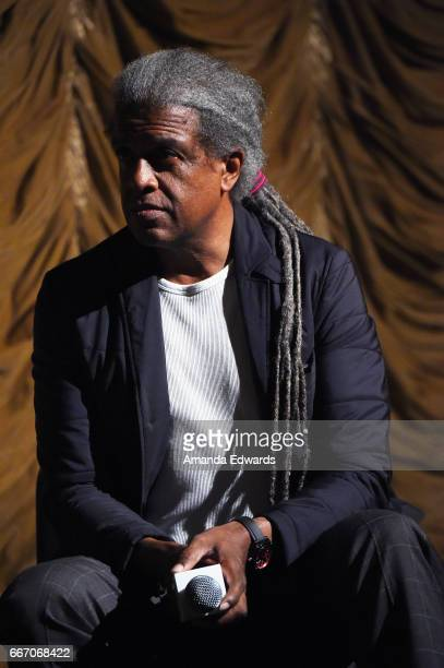 Film Independent at LACMA film curator Elvis Mitchell attends the Film Independent at LACMA special screening and QA of 'American Gods' at the Bing...