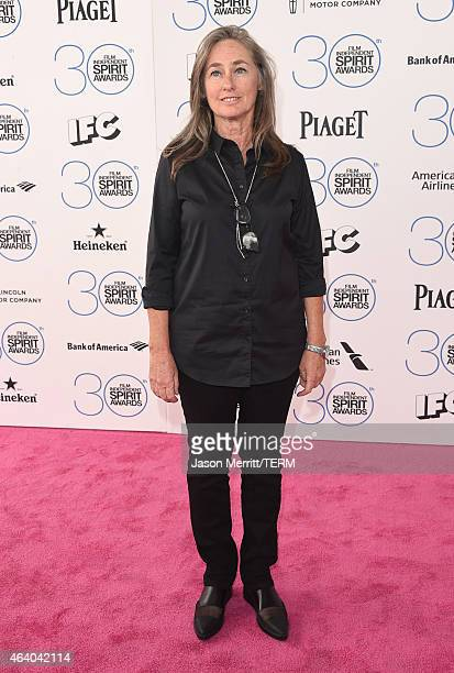 Film Independent board member Mary Sweeney attends the 2015 Film Independent Spirit Awards at Santa Monica Beach on February 21 2015 in Santa Monica...