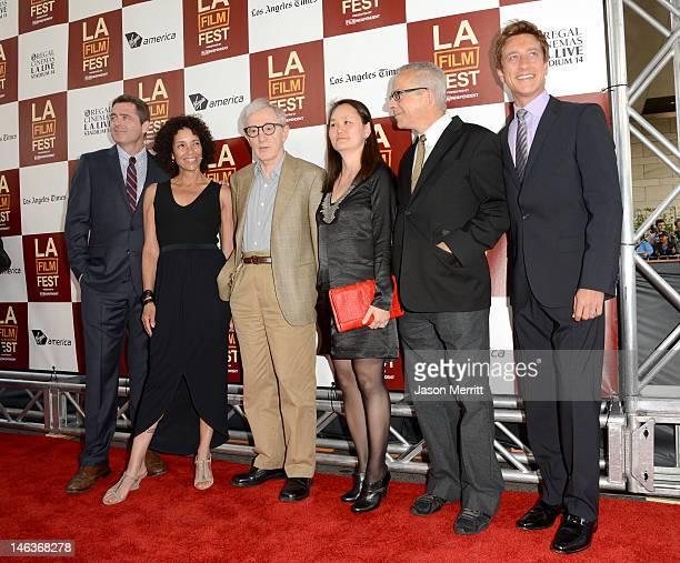Film Independent copresident Josh Welsh Los Angeles Film Festival Director Stephanie Allain director/producer Woody Allen SoonYi Previn LAFF director...