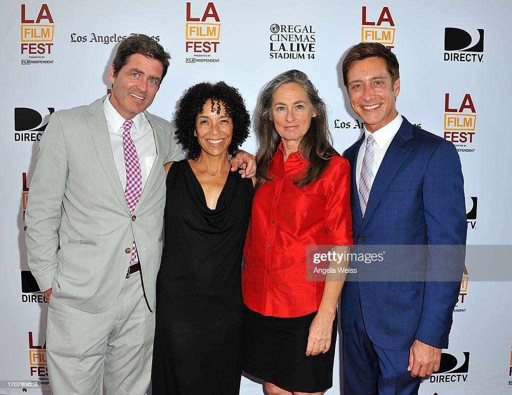 Film Independent co-president Josh Welsh, Los Angeles Film Festival director Stephanie Allain, Chair of the board of directors Mary Sweeney, Film Independent co-president Sean McManus arrive at the premiere of The Weinstein Company's 'Fruitvale Station' during the 2013 Los Angeles Film Festival at Regal Cinemas L.A. Live on June 17, 2013 in Los Angeles, California.