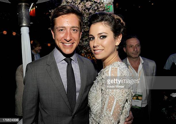 Film Independent copresident Sean McManus and actress Blanca Suarez attend the premiere of Sony Pictures Classics I'm So Excited after party during...