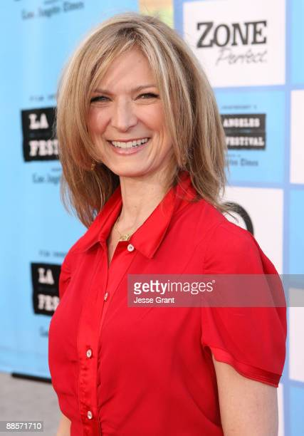 """Film Independent Executive Director Dawn Hudson arrives at the 2009 Los Angeles Film Festival's Opening Night Premiere of """"Paper Man"""" held at the..."""