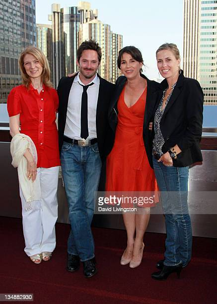 Film Independent executive director Dawn Hudson director Scott Cooper LAFF festival director Rebecca Yeldham and Jocelyne Cooper attend the Filmmaker...