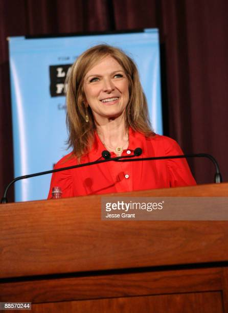 """Film Independent Executive Director Dawn Hudson speaks at the 2009 Los Angeles Film Festival's Opening Night Premiere of """"Paper Man"""" held at the Mann..."""