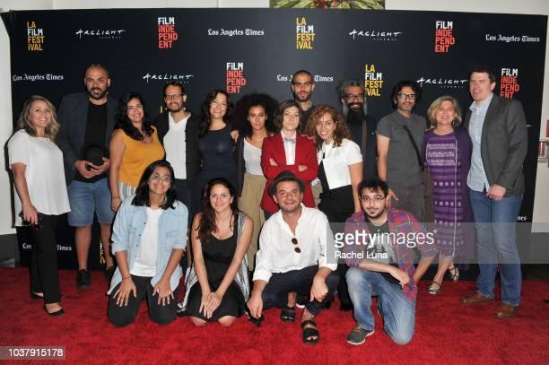 Film Independent Global Media Makers Program Manager Shari Page Film Independent Global Media Makers Fellows Yanis Koussim Zeina Badram Amine Hattou...