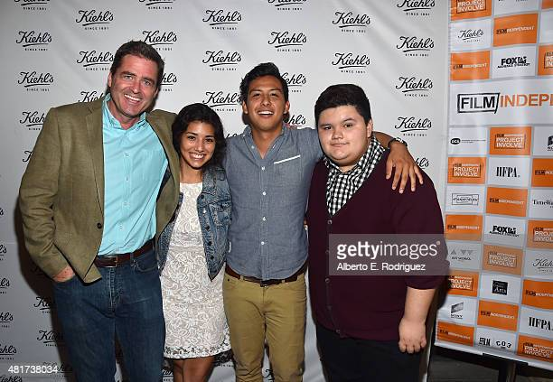 Film Independent President Josh Welsh actress Hannah Elane writer/director Ryan Velasquez and actor Jovan Armand attend Film Independent's Project...
