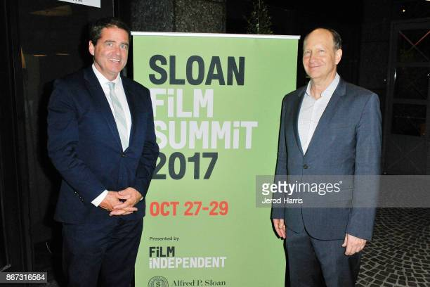 Film Independent President Josh Welsh and Vice President of Programs for Alfred P Sloan Foundation Doron Weber attends Sloan Film Summit 2017 Day 1...