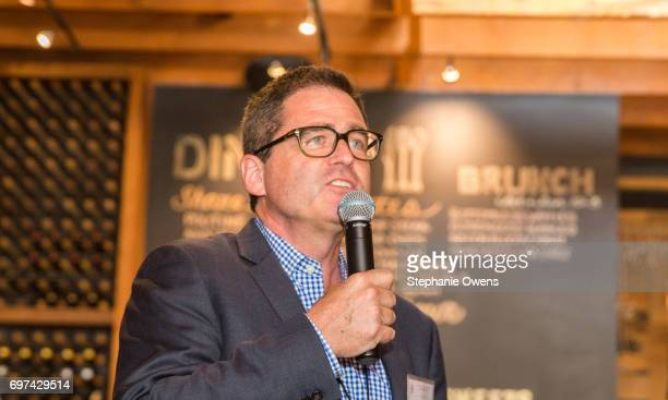 Film Independent President Josh Welsh speaks at the DGA Reception during 2017 Los Angeles Film Festival at City Tavern on June 16 2017 in Culver City...