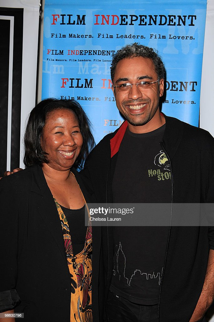 Film Independent programmer Tracie Lewis (L) and director Sylvain White (R) attend Film Independent's screening of 'The Losers' at the Landmark Theater on April 22, 2010 in Los Angeles, California.