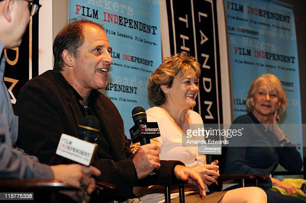 Film Independent's Doug Jones Michael Hoffman Bonnie Arnold and Helen Mirren participate in a Q A session following a Film Independent screening of...