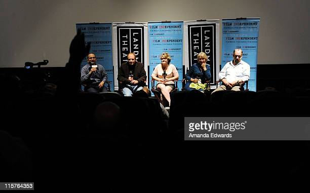 Film Independent's Doug Jones Michael Hoffman Bonnie Arnold Helen Mirren and Paul Giamatti participate in a Q A session following a Film Independent...