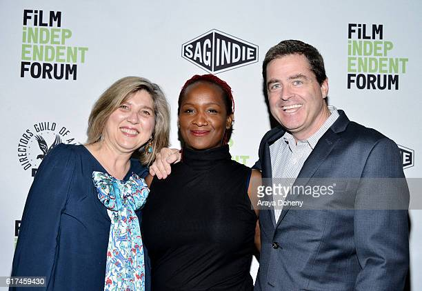 Film Independent's Maria Raquel Bozzi, Effie Brown, EVP of Production and Development at Lee Daniels Entertainment and Josh Welsh, President of Film...