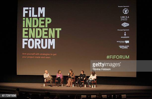 Film Independent's Paul Cowling actresses/writers Laura Zak and Jen Richards producer Katherine Fisher and Sylvia Desrochers President of Big Time PR...