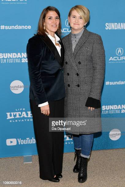 Film Inspiration Brittany O'Neill and actor and comedian Jillian Bell attend the Brittany Runs A Marathon Premiere during the 2019 Sundance Film...