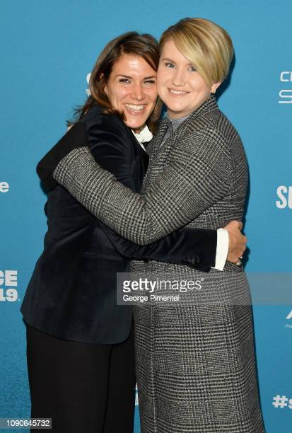 Film Inspiration Brittany O'Neill and actor and commedian Jillian Bell attend the Brittany Runs A Marathon Premiere during the 2019 Sundance Film...