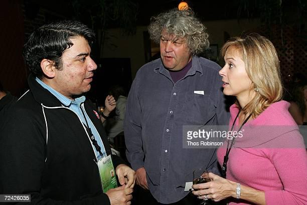 Film journalist Eugene Hernandez Film Rep Jeff Dowd and producer Linda Vester at the reception of Back Home during AFI FEST 2006 presented by Audi...
