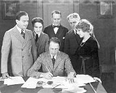 Film maker dw griffith reviews the contract of actress mary pickford picture id517286544?s=170x170