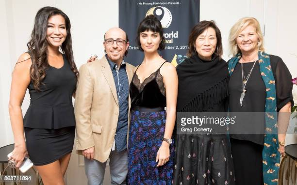 Film maker Gia Noortas Writer/Director Sam Kadi Actress Tuba Buyukustun Guest and AWFF Director of Development Philanthropy Lani Netter attend a...