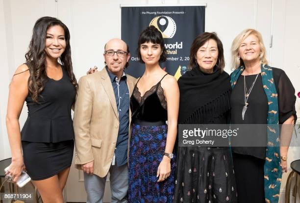 Film maker Gia Noortas Writer/Director Sam Kadi Actress Tuba Buyukustun Guest and AWFF Director of Development Philanthropy Lani Netter attend a...