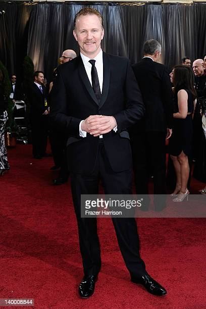 Film maker Morgan Spurlock arrives at the 84th Annual Academy Awards held at the Hollywood Highland Center on February 26 2012 in Hollywood California