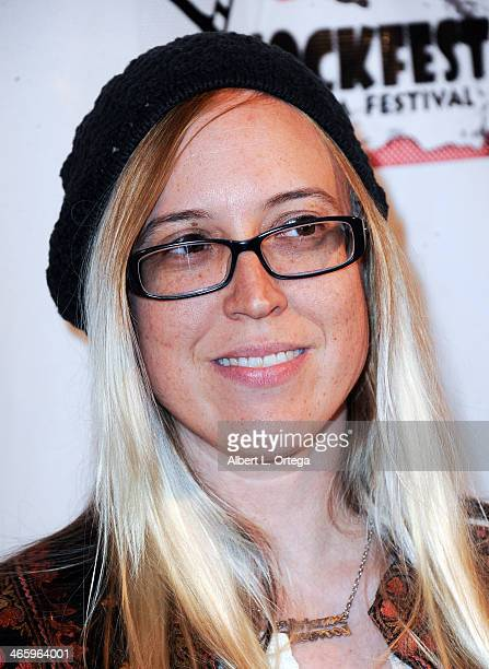 Film maker Sandy Stenzel attends the ShockFest Film Festival Awards held at Raleigh Studios on January 11 2014 in Los Angeles California