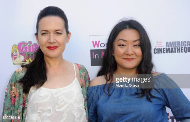 Film makers Bel Delia and Helen Shang arrive for Etheria Film Night held at The Egyptian Theatre on June 3 2017 in Los Angeles California