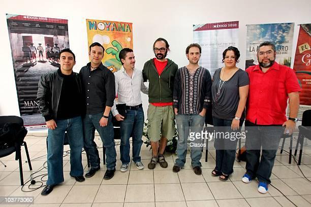Film makers Raul and Rafael Cardenas Jose Barrera Emilio Gonzalez Jacques Bonnavent Mariana Miranda and Felipe Gomez of IMCINE present the project of...