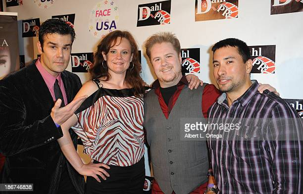 Film makers Robert Burton Jessica Joss Adam Williams and Ramon Antonio arrive for The Black Dahlia Haunting DVD Release Party held at The Station...