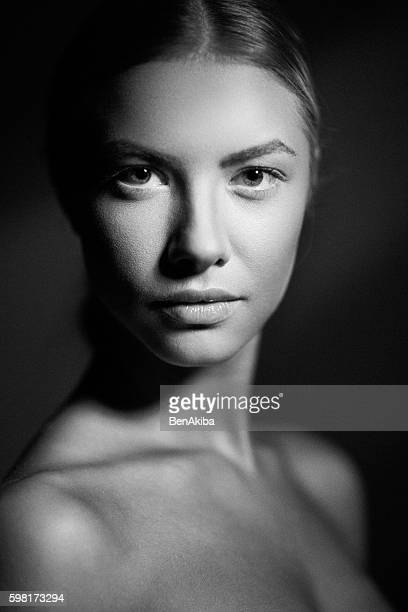 Film Noir Moody Portrait of a Girl