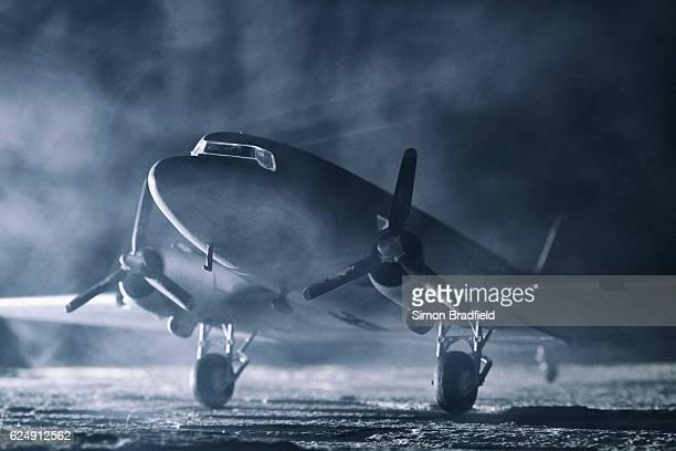 film noir style dakota dc3 model - film noir style stock pictures, royalty-free photos & images