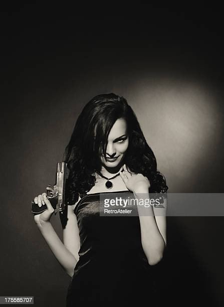 Film Noir style. Dangerous baby