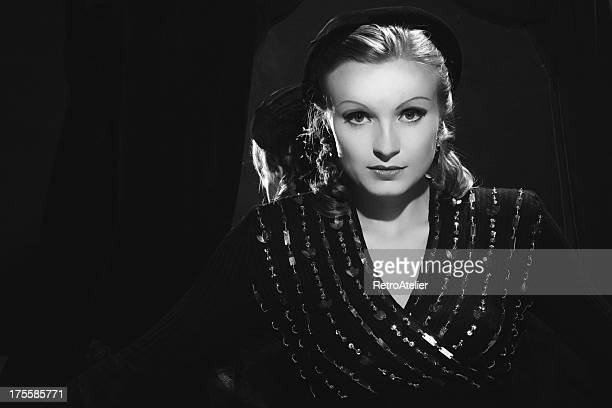 Film Noir style Female portrait
