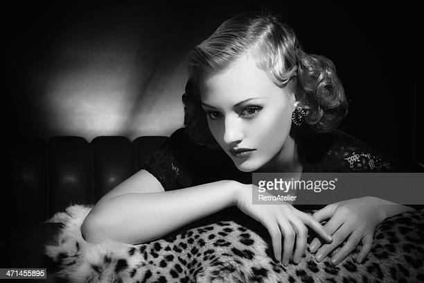Film Noir style. Female portrait