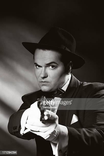 Film Noir style. Hand`s up!