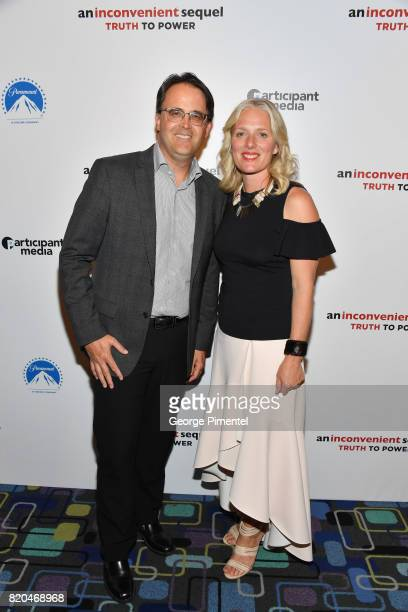 Film of Cineplex Entertainment Kevin Watts and Minister of the Environment and Climate Change Catherine McKenna attend a special Toronto screening of...