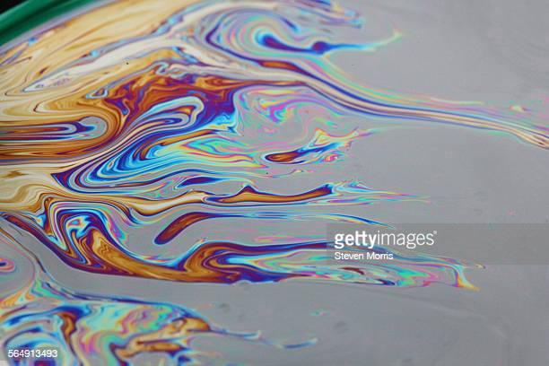 Film of oil on water