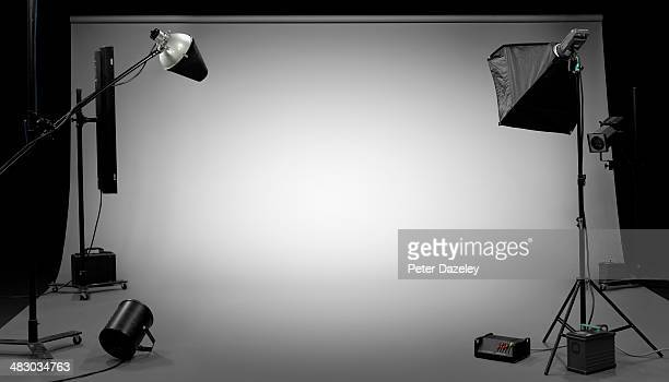 tv, film, photographic studio 3 - studiofoto stockfoto's en -beelden