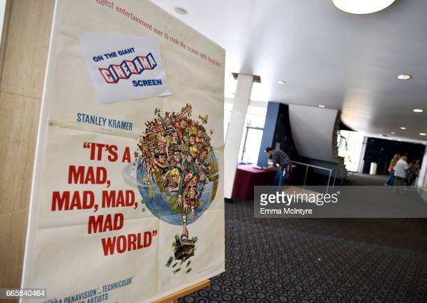 Film poster is seen during the screening of 'It's a Mad Mad Mad Mad World' during the 2017 TCM Classic Film Festival on April 7 2017 in Los Angeles...