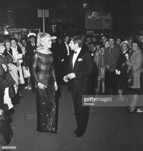 Film premiere Repulsion at the Rialto Cinema London Thursday 10th June 1965 Our picture shows Catherine Deneuve and Roman Polanski