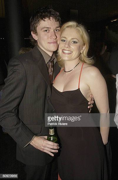 Film producer Abe Forsythe with girlfriend actress Helen Dalleymore attend the opening night of The Unlikely Prospect Of Happiness at the Sydney...