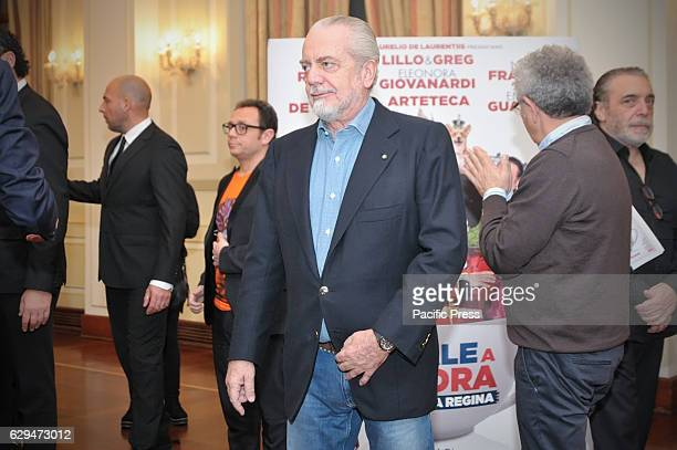 Film producer and President of soccer team of serie A SSC Napoli Aurelio De Laurentiis during the photocall of Italian film 'Natale a Londra'...