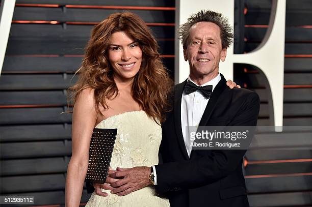 Film producer Brian Grazer and Veronica Smiley attend the 2016 Vanity Fair Oscar Party hosted By Graydon Carter at Wallis Annenberg Center for the...